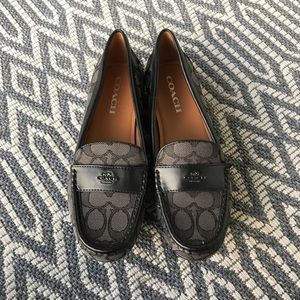 Coach loafers black 8
